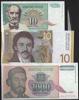 B 143 - YOUGOSLAVIE Lot De 3 Billets  état Neuf 1er Choix - Yugoslavia
