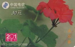 TARJETA TELEFONICA DE CHINA. FLORES - FLOWERS. HYT-10(5-5)2000. (372) - Flores