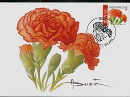 Fleurs Buzin: CM Du N° 3234   Oeillet  Obl. Ransart 17/01/2004 - 1985-.. Oiseaux (Buzin)