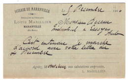 MARANVILLE Scierie  Louis Marillier  1900 - France