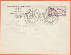 FRANCIA - France - 1942 - 1,50+3,50F Oeuvres De L'air + Special Cancel Journée Du Timbre - Société Philatélique De L'Est - Storia Postale