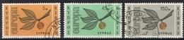 DO 6642  CYPRUS  GESTEMPELD  YVERT NRS 250/252  ZIE SCAN - Chypre (République)