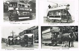31552. Lote 6 Postales, Post Card EDINBURGH's TRAMS. Red Tranvias REPRO T1-6 - Midlothian/ Edinburgh