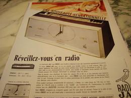 ANCIENNE PUBLICITE REVEILLEZ VOUS EN RADIO   JAZ 1966 - Réveils