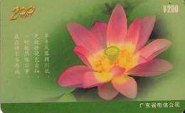 TARJETA TELEFONICA DE CHINA. FLORES - FLOWERS. D0084(4-4). (375) - Flores