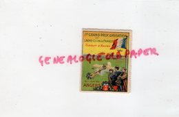 49 - ANGERS- RARE TIMBRE VIGNETTE 1 ER GRAND PRIX AVIATION ERO CLUB DE FRANCE-CIRCUIT ANJOU 1912 - Erinnophilie
