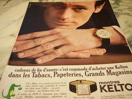ANCIENNE PUBLICITE MONTRE KELTON  1966 - Jewels & Clocks