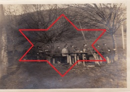 Photo Janvier 1917 ZIMMERBACH (près Munster) - Dernier Repas Au Lager Protzkasten, Camp Allemand (A205, Ww1, Wk 1) - France