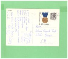 1974 VIAGGIATA X LA SVIZZERA AFFRANCATURA DI 2 DIV. FRANCOBOLLI - 1946-.. République