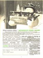 "PUB  VIN "" HENRI MAIRE  ""  1956 ( 2 ) - Andere Flessen"