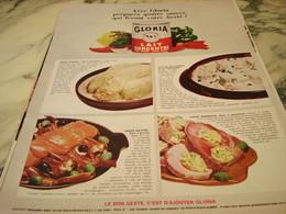 ANCIENNE PUBLICITE QUATRE SAUCES AVEC  LAIT CONCENTRE GLORIA 1966 - Affiches