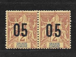 GRANDE COMORE TYPE GROUPE N° 20.20A - COTE = 10.50 € - Great Comoro Island (1897-1912)