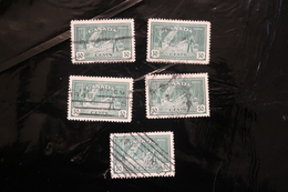 Canada 272 Forestry Trees 5 Copies Cancelled 1946 WYSIWYG A04s - Used Stamps
