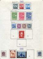 11209  BELGIQUE  Collection Vendue Par Page°/*  N° 924/33, 935, 938/9, 941/2    1953-54  TB - Belgique