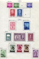 11212  BELGIQUE  Collection Vendue Par Page*/°  N° 979/85 Sauf 981 Et 985, 986/95   1955-56  TB - Belgique