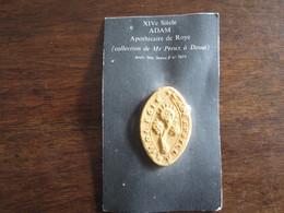REPRODUCTION DE SCEAU DU XIV SIECLE ADAM APOTHICAIRE DE ROYE - Francobolli