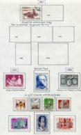 11215  BELGIQUE  Collection Vendue Par Page*/°  N° 1030, 1037/43  1957-58   TB - Belgique