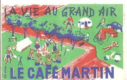 Buvard Le Café MARTIN La Vie Au Grand Air (Scoutisme Autour Du Feu) - Café & Thé