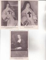 CPA 78 CHEVREUSE ,3 Cartes De L'Abbaye De PORT-ROYAL-des-CHAMPS. - Chevreuse
