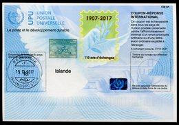 ISLANDE  110 Ans !  Coupon Réponse International / International Reply Coupon - Entiers Postaux