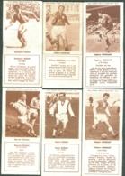 FOOTBALL Lot De 6 Images Biscuits REM Ancêtres Des PANINI - Trading Cards