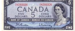 Canada P.77b 5 Dollars 1954 Unc - Kanada