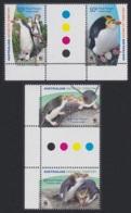 Australian Ant. Terr. Birds WWF Royal Penguin 4v Gutter Pairs With Margins MNH SG#176-179 SC#L136-139 MI#169-172 CV�8 - Australian Antarctic Territory (AAT)