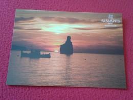 SPAIN POSTAL POST CARD CARTE POSTALE PUBLICITARIA ADVERTISING ISLAS BALEARES IBIZA ELEMENTS BEACH CLUB CALA BENIRRÁS VER - Publicidad
