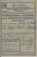 TARBES MAISON D ARRET BUREAU DEPARTEMENTAL DES CHARBONS FABRICATION OU CUISINE SERVICES PUBLICS ANNEE 1947 48 - France