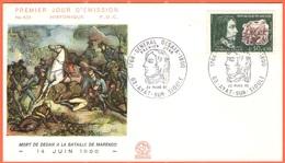 FRANCIA - France - 1968 - Général Desaix - Ayat Sur Sioule - FDC - 1960-1969