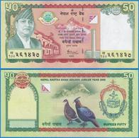 Nepal ND(2005) 50 Rupees P-52 King Gyanedra GEM UNC - Nepal