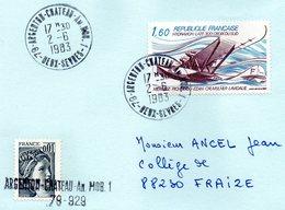 79 -  ARGENTON-CHATEAU -An.MOB.1 -  2-6-1983  -  Ouvert Le 2 Novembre 1967 - Marcophilie (Lettres)