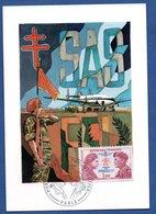 Carte Premier Jour / SAS - FFL / Paris / 1973 - Maximumkarten
