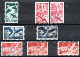FRANCE - YT PA N° 16-17-17a-18-18a-19-19a-19b - Neufs ** - MNH - Cote  123,00 € - Poste Aérienne