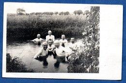 Carte Photo -  Soldats Allemands  -  Baignade - Oorlog 1914-18