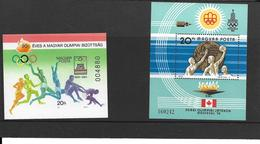 JEUX OLYMPIQUES ETE - OLYMPICS SUMMER GAMES HONGRIE URSS - MAGYAR POSTA CCCP - LOT 4 BLOCS - Jeux Olympiques