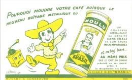 Buvard Costa Brasil Café Moulu Pourquoi Moudre Votre Café: Dessin De J.L. Pesch - Café & Thé
