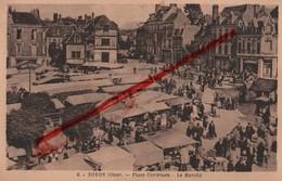 (Oise) Noyon - 60 - Place Cordouen, Le Marché (animée) Circulé 1941 - Noyon