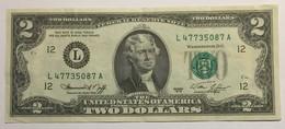 United States Of America - Two Dollars - Series 1976 - Etats-Unis