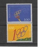 PORTUGAL - CENTENAIRE JEUX OLYMPIQUES CIO - OLYMPICS GAMES - 2 TIMBRES - 1910-... République