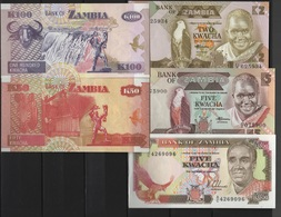 B 146 - ZAMBIE Lot De 5 Billets état Neuf 1er Choix - Zambie