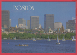 BOSTON  - Charles River & Beacon Hill - Photo Rick Birkenshaw-SUP** 2 SCANS - Boston