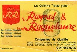 12- CAPDENAC - BUVARD CUISINE CONSERVES RAYNAL & ROQUELAURE-FOIES GRAS TRUFFES-CEPES- - Food