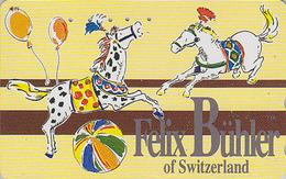 Télécarte Japon / 110-011 - CIRQUE BÜHLER Suisse - Cheval Ballon - CIRCUS Horse Balloon JAPAN Phonecard - 244 - Games
