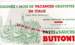 94 - SAINT MAUR- RARE BUVARD PATES ET SAUCES BUITONI-VOYAGE EN ITALIE VENISE- VENEZIA- 1957 - Food