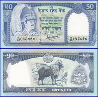 Nepal 50 Rupees, ND(1983-), P-33c, Sign 14 UNC - Nepal