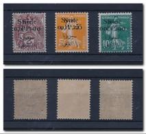 SYRIE 1923 - Double Surcharge Sur YT N°88/89/90 - état * Infime Trace De Charnière MLH - Syria (1919-1945)