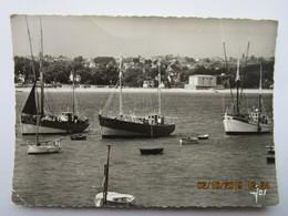 CP 29 MORGATpar Crozon Bateaux De Pêche Dans Le Port , La Grande Plage Et Le Bourg De Crozon à L'horizon 1963 - Crozon