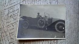 Photo Ancienne Automobile Voiture Militaire  Early Car à Déterminer 1916 - Automobiles
