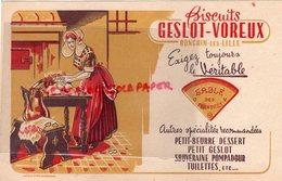 59- RONCHIN LES LILLE-  BUVARD BISCUITS GESLOT-VOREUX-SABLE DES FLANDRES-PETIT BEURRE -SOUVERAINE POMPADOUR - Food